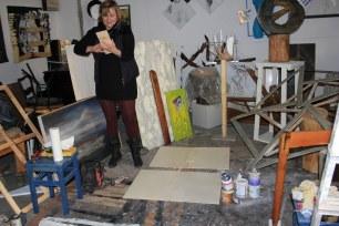 8 Gabriele arbeitet an einem Objekt (c) Foto von Susanne Haun