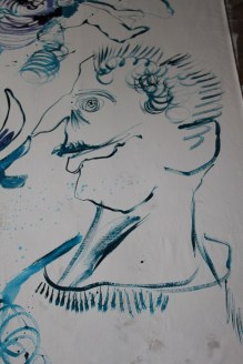 5 Ausschnitt - verso - Leinwand - 256 x 150 cm (c) Zeichnung von Susanne Haun