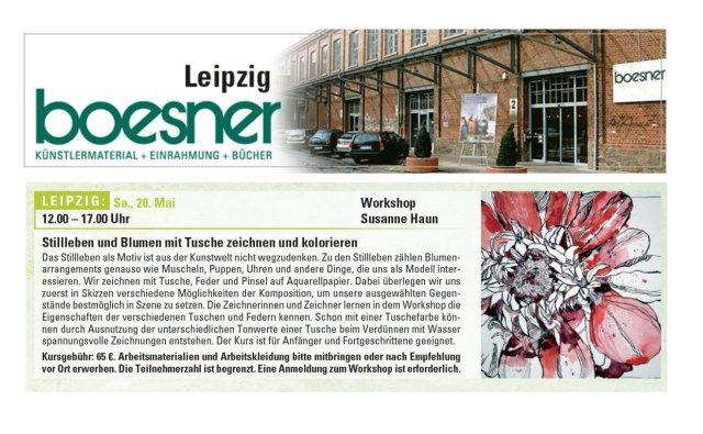 Ankündigung Boesner Leipzig Workshop Susanne Haun