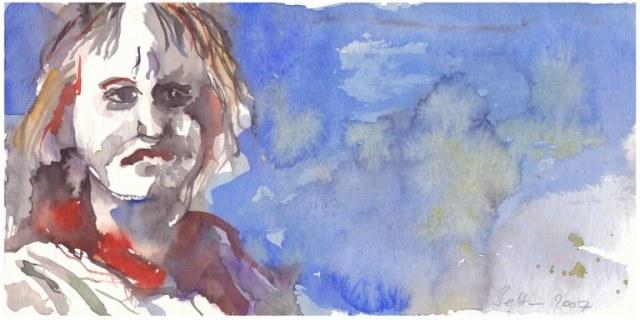 Meine Vorstellung von Gauguin - 10 x 30 cm - 2007 (c) Aquarell von Susanne Haun