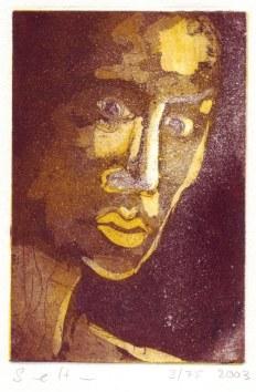 Welches ist meine Wahrheit - 15 x 10 cm - 2006 (c) Radierung Aquatinta von Susanne Haun