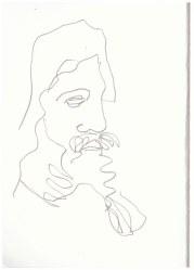 Abgusssammlung antiker Plastik in der Gemäldegalerie Dresden (c) Zeichnung von Susanne Haun