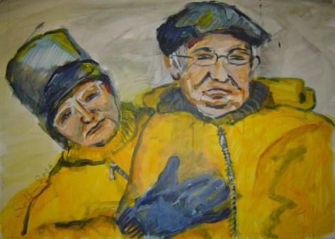 Meine Eltern - Januar 2006 - 50 x 70 cm - Acryl auf Malkarton (c) Gemälde von Susanne Haun