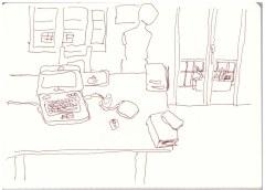 Aus meinem Skizzenbuch - 2.5.2017 (c) Zeichnung von Susanne Haun