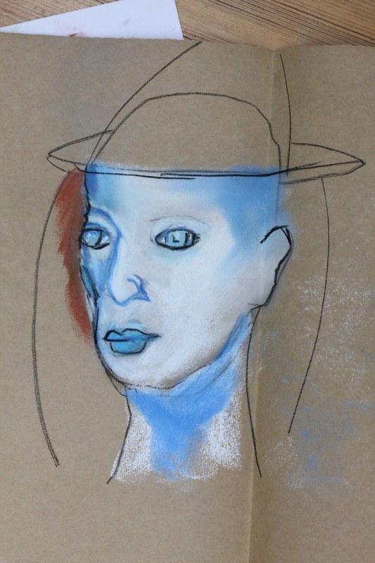 Schnelle Portrait (c) Pastell von Susanne Haun