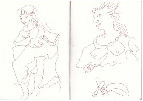 Ausgang Schillerpark Berlin Wedding (c) Zeichnung von Susanne Haun (c) Zeichnung von Susanne Haun