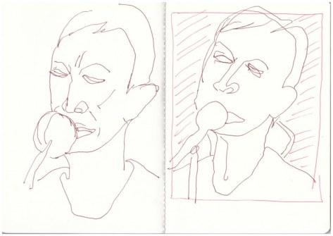 Annie Lennox - Zeichnungen nach youtube Video summertime (c) Zeichnung von Susanne Haun