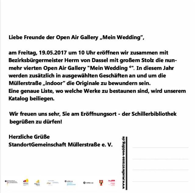 Einladung - Mein Wedding 4 - Rückseite