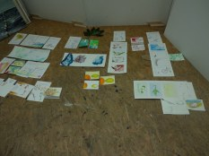 Workshop Postkarten zeichnen bei Boesner Berlin (c) Foto von Susanne Haun