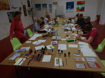 Workshop Stillleben und Blumen bei boesner Leipzig (c) Foto von Susanne Haun