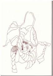 Kastanienblätter (c) Zeichnung von Susanne Haun