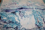 Wellen entstehen auf Leinwand 215 x 95 cm (c) Foto von Susanne Haun