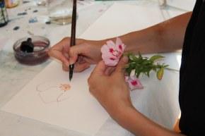 Zeichnen mit swaf bei Susanne Haun mit Tandems von swaf (c) Foto von Susanne Haun