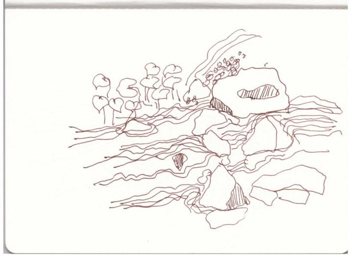 Berchtesgadener Land - Almbachklamm (c) Zeichnung von Susanne Haun