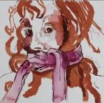 In der Liebe gilt Schweigen oft mehr als Sprechen - 25 x 25 cm - Tusche auf Aquarellkarton (c) Zeichnung von Susanne Haun