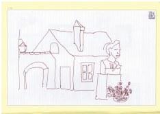 Augsburg Fugger Siedlung (c) Zeichnung von Susanne Haun