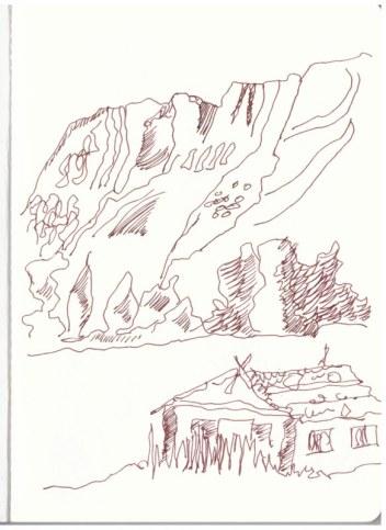 Berchtesgadener Land - Oberau (c) Zeichnung von Susanne Haun