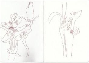 Eindrücke der der Mark Brandenburg, Neuroddahn (c) Zeichnung von Susanne Haun