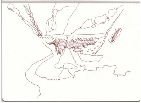Berchtesgadener Land - Watzmann Eiskapelle (c) Zeichnung von Susanne Haun