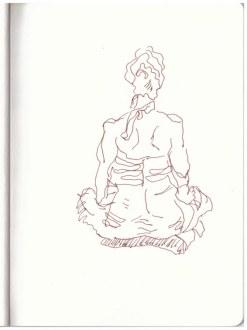 Augsburg - Lange Nacht der Freiheit (c) Zeichnung von Susanne Haun