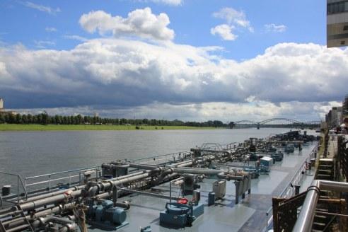 Versorgungsboot Köln am Rhein (c) Foto von Susanne Haun