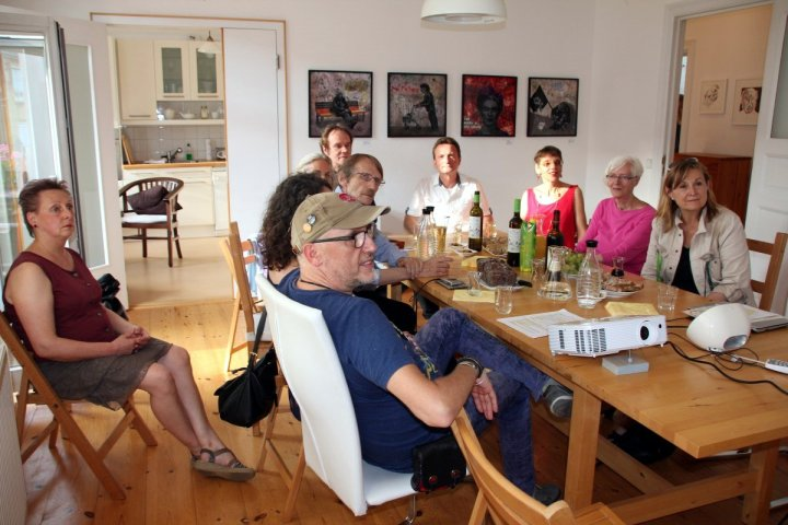 Salon am Dienstag bei Susanne Haun Gast Peter Mück (c) Foto von M.Fanke