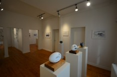 Ausstellungsansicht Kulturbahnhof Nettersheim Eiswelten - Susanne Haun - Dirk Fiege - Roswitha Mecke - Sabine Jacobs