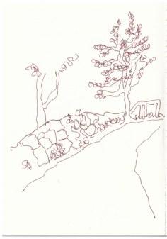 Sizilien Parco dei Nébrodi (c) Zeichnung von Susanne Haun