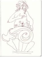 Sizilien Cefalu (c) Zeichnung von Susanne Haun
