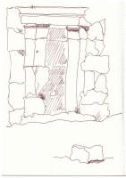 Sizilien - Cefalu - Der Tempel der Diana (c) Zeichnung von Susanne Haun