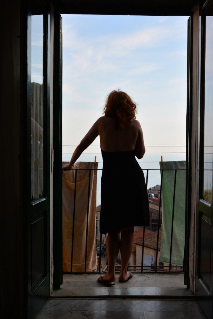 Ausblick aus unserem Apartement in Caronia (c) Foto von M.Fanke