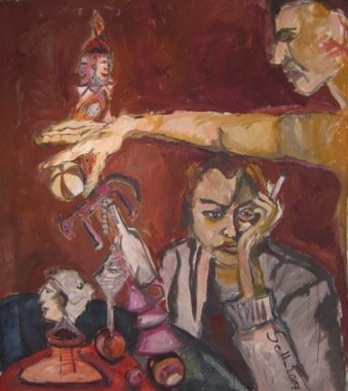 2007 - Rückseite der Lebensstufen der Frau (c) Gemälde von Susanne Haun