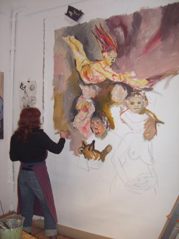 Die sowjetischen Künstler die Gestorbenen vom Alkoholismus