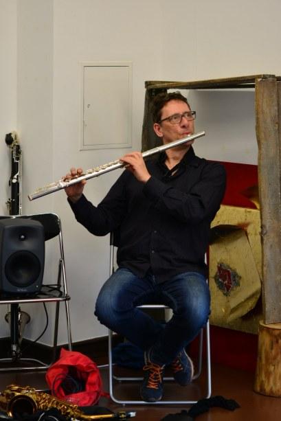Der Musiker Frank Gratkowski (c) Foto von M.Fanke