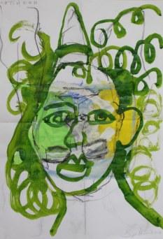 Heike Schnittker Portrait 1 (c) Übermalung von Susanne Haun