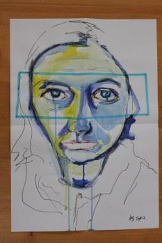 Heike Schnittker Portrait 2 (c) Übermalung von Susanne Haun