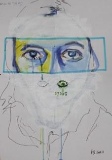 Heike Schnittker Portrait 2 (c) Übermalung von Susanne Haun (3)