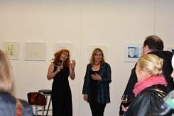 Impressionen von der Ausstellung Querbrüche Eröffnung der Ausstellung (c) Foto von M.Fanke