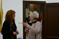 Impressionen von der Filmvorführung mit Anna-Maria Weber - Ausstellung Querbrüche Susanne Haun und Gabriele D.R. Guenther (c) Foto von M.Fanke