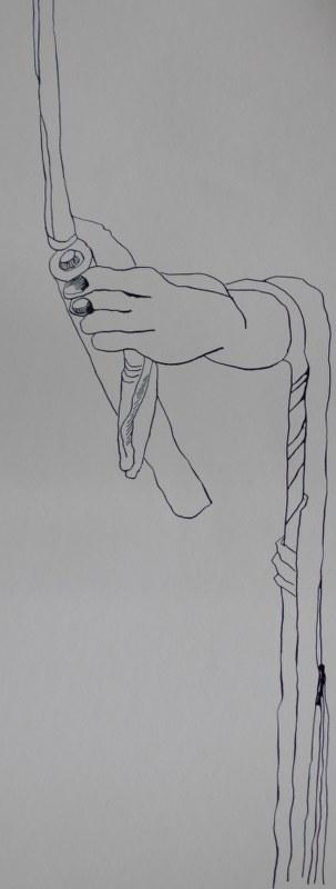 Lot und seine Frau - recto - 50 x 20 cm - Tusche auf Bütten (c) Zeichnung von Susanne Haun