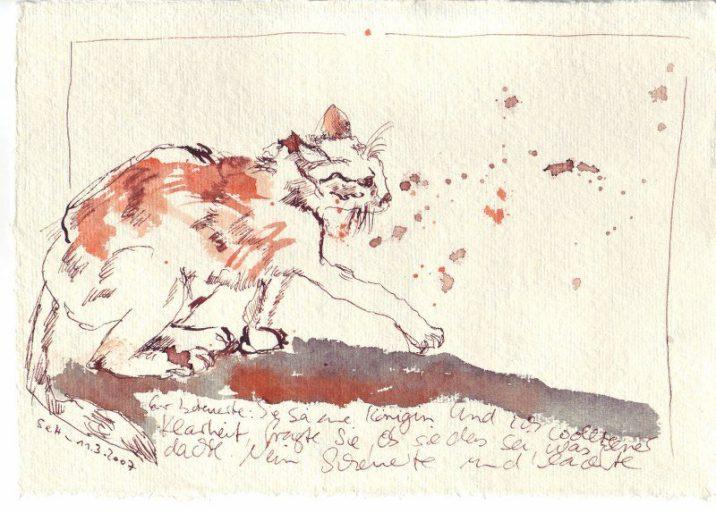 Tagebuch Z 2007 03 11 - 15 x 20 cm (c) Zeichnung von Susanne Haun