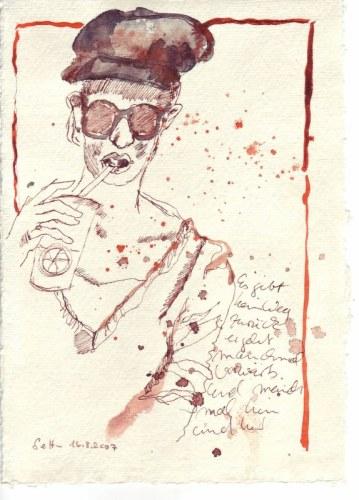Tagebuch Z 2007 03 26 - 15 x 20 cm (c) Zeichnung von Susanne Haun