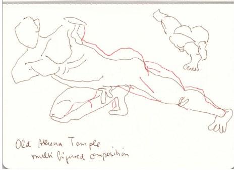 Athen Akropolismuseum (c) Zeichnung von Susanne Haun