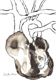 Aber in jedem steckt ein Dämon (c) Zeichnung von Susanne Haun