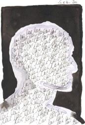 Die Schlaflosigkeit hat meine Gedanken gelöscht (c) Zeichnung von Susanne Haun