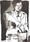 Ich war damals einer der der glatten Leute (c) Zeichnung von Susanne Haun