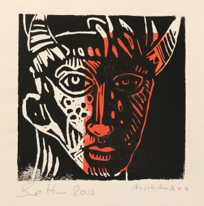 Steinerne Tränen, 15 x 15 cm (c) Linoldruck von Susanne Haun