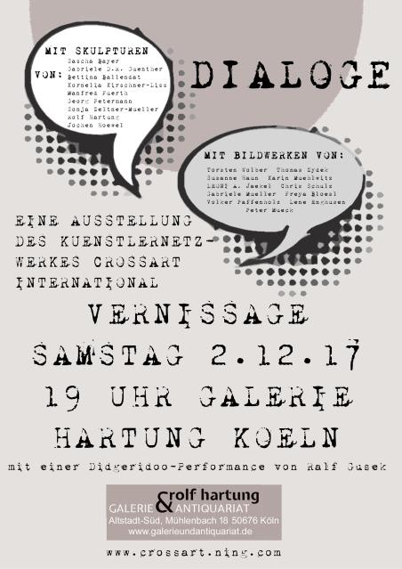 Flyer Ausstellung Dialoge - Galerie Hartung Köln