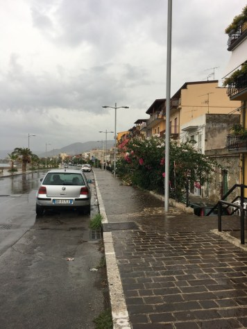 Regen in Sant'Agata di Militello (c) Foto von Susanne Haun
