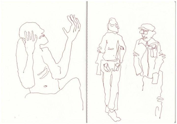 Um Maria Laach herum (c) Zeichnung von Susanne Haun